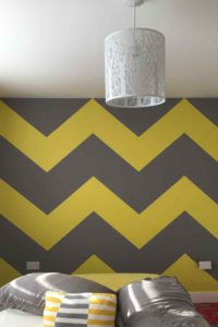 K and M Decorating Chevron Pattern Wallpaper Almost Finished