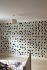 K and M Decorating Pattern Wallpaper Mickey Mouse Finished